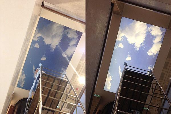 Montaggio soffitto stampato